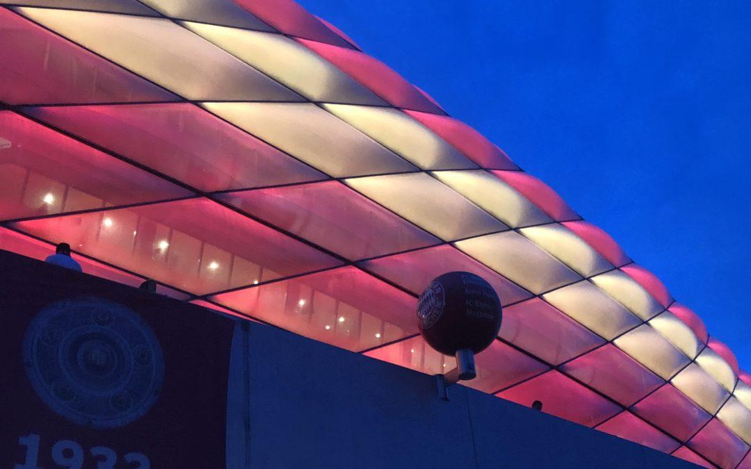Ein Fußballspiel in der Allianz Arena